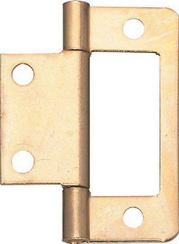 Pack of 4  NEW FLUSH CUPBOARD HINGES 50MM Cabinet Furniture Flat, finish choice